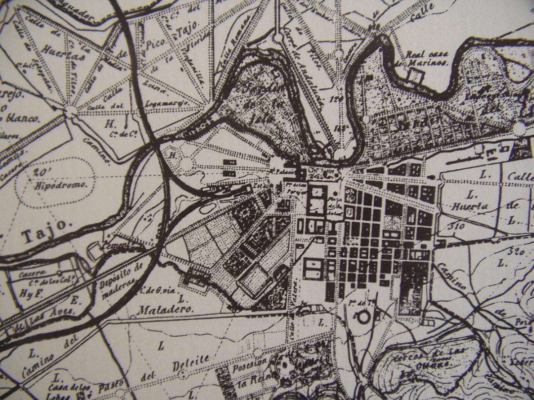 Plano de la Junta General de Estadística de 1865
