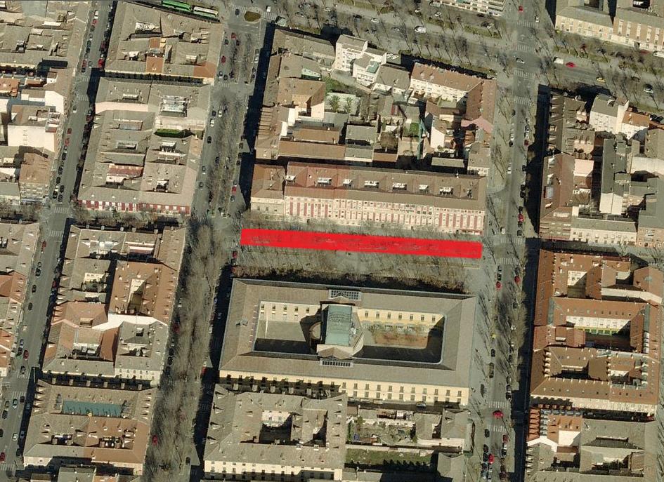 Corte Calle San Antonio - Parque Isabel Farnesio